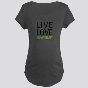 Live Love Hypnotherapy Maternity Dark T-Shirt